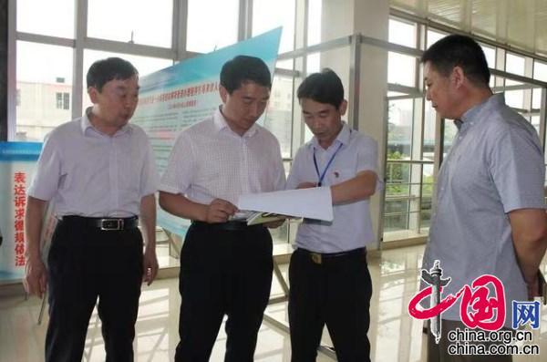 徐州市信访局局长詹龙一行来徐州市经开区检查工作